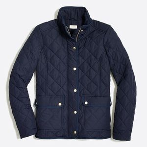 J. Crew Factory Navy Quilted Field Jacket XXS